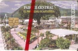 TARJETA DE GUATEMALA DE EL PARQUE CENTRAL DE GUASTATOYA (LADATEL) NUEVA-MINT - Guatemala