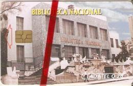 TARJETA DE GUATEMALA DE LA BIBLIOTECA NACIONAL  (LADATEL) NUEVA-MINT - Guatemala