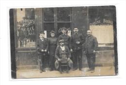 Carte Photo à Identifier : Devanture De CAFE, RESTAURANT : Produits De La Savoie - Cartes Postales