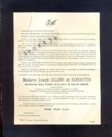 Doodsbrief Adel - Madame Joseph Ulens De Schooten - Dorothy Daly De Daly's Grove - 1889 - Leuven Schoten 1942 - Avvisi Di Necrologio