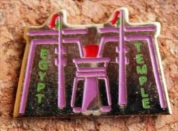 EGYPTE - EGYPT - TEMPLE  -         (NOIR) - Pins