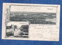 CPA De 1898 - Gruss Aus BRUCK An Der LEITHA - Totalansicht - Bahnhof - Alter Festungsmauer - Verlag Alex J. Klein - Bruck An Der Leitha