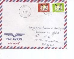 Armoiries ( Lettre Par Avion Du Bénin De 1996 De Comé Vers La Belgique à Voir) - Buste