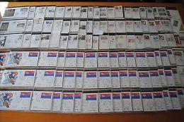 FDC / 1° JOUR: Collection Années 1988 / 1989 Nombreux Cachets Et Cartes Maximum - FDC
