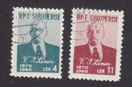 Albania, Scott #557-558, Used, Lenin, Issued 1960 - Albania