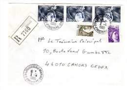 29 LANDIVISIAU-MARINE FINISTERE Type A9 S/LR Sabine + Eurovision 3-6-1980 - Cachets Manuels