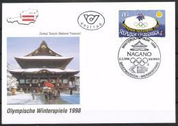 Österreich-  FDC    MI.Nr.   2243   Olympische Winterspiele, Nagano - FDC
