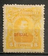 Timbres - Amérique - Honduras - 1890-1913 - Service - Oficial - 5 Centavos - - Honduras