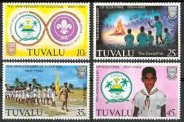 1982 Tuvalu Scout Scoutisme Scouting  Set MNH** Sc55 - Tuvalu