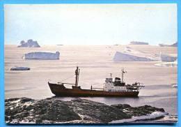 TAAF - Départ Du THALADAN  , Bateau , Ship -  Timbres Saumons ,affr à Kerguelen . Stamp - TAAF : Terres Australes Antarctiques Françaises