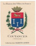 Cigarettes Laurens - Blason Des Villes De France - COUTANCES (50) - Autres Marques