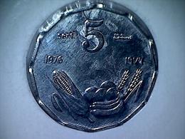 Somalia 5 Senti 1976  F.A.O - Somalie