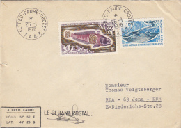 18325- STRIPED ROCKCOD, BLUE WHALE, ANTARCTIC WILDLIFE, STAMPS ON COVER, 1978, T.A.A.F. - Antarctic Wildlife