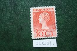 Regeringsjubileumzegel 10 Ct NVPH 124D 124 D (Mi 126) 1923 Gestempeld / USED NEDERLAND / NIEDERLANDE - Period 1891-1948 (Wilhelmina)