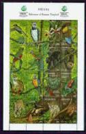 NICARAGUA   1917 MINT NEVER HINGED MINI SHEET FAUNA & FLORA OF RAINFOREST - Birds