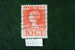 Regeringsjubileumzegel 10 Ct NVPH 124F 124 F (Mi 126) 1923 Gestempeld / USED NEDERLAND / NIEDERLANDE - Used Stamps