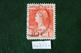 Regeringsjubileumzegel 10 Ct NVPH 124F 124 F (Mi 126) 1923 Gestempeld / USED NEDERLAND / NIEDERLANDE - Period 1891-1948 (Wilhelmina)