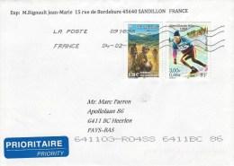 France 2015 Sandillon WWII Parachute Dropping Alpine Skiing Cover - Brieven En Documenten