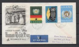 Ghana 1960 / Mi 91/93 - Human Rights - FDC Cover - Ghana (1957-...)