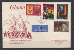 Ghana 1963 / Mi 153/156 - National Founders - FDC Cover - Ghana (1957-...)