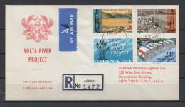 Ghana 1966 / Mi 253/256 - Volta Rever Project - FDC Cover - Ghana (1957-...)