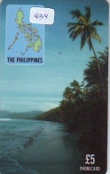 Télécarte PHILIPPINES * FILIPPIINES * EPACE (434) GLOBE * SATELLITE * MAPPEMONDE * TK Phonecard * - Philippines