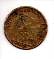 REF 1  : Monnaie Coin Jeton Royal Origine FRANCE Ludovicus Magnus Rex Sine Cremine CESSY AIGLE - Coins & Banknotes
