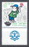 Israël YT N°1010 Campagne Pour La Propreté Des Lieux Publics (avec Tabs) Neuf ** - Israel
