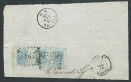 1867 REGNO USATO EFFIGIE 20 CENT FRAMMENTO ANNULLO NUMERALE - K005 - 1861-78 Vittorio Emanuele II
