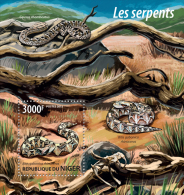 NIGER 2015 - Snakes Skull S/S. Official Issue - Fossielen