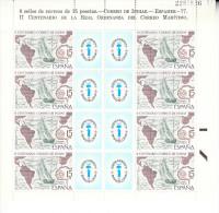 ESPAÑA 1977.ESPAMER '77 EDIFIL Nº2437 MINIPLIEGO 8 SELLOS NUEVO SIN CHARNELA.SES AMARILLO GRANDE - 1971-80 Nuevos & Fijasellos