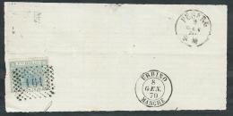 1867 REGNO USATO EFFIGIE 20 CENT FRAMMENTO ANNULLO NUMERALE - K071 - 1861-78 Vittorio Emanuele II