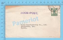 George VI, India ( Karachi To Canada, Postmark Book-Post Print )  2 SCANS - 1936-47 Roi Georges VI