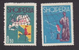 Albania, Scott #630-631, Mint Hinged/No Gum, Tourism, Issued 1962 - Albanie