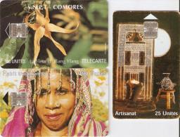 *COMORE* - Lotto Di 3 Schede A CHIP Usate Differenti - Comore