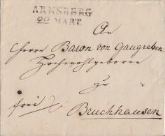Brief Arnsberg 22.3. Gel. Nach Bruchhausen - Deutschland