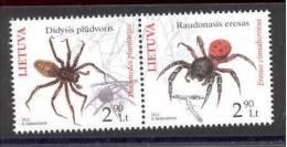 4.- LITHUANIA LITUANIE 2012 SPIDERS ARAIGNÉES ARAÑAS