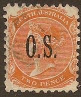 SOUTH AUSTRALIA 1891 2d OS QV SG O55 U #MN267 - 1855-1912 South Australia