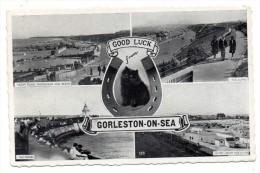 CPA - GORLESTON-ON-SEA - GOOD LUCK - FER A CHEVAL - CHAT - Multivues - N/b - Ann 50 - - Non Classés