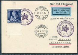 1936 Austria Wien Klagenfurt Aspern  Airmail Luftpost Flugpost Soldatentag Postcard - Airmail