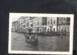 P1507 FERRANIA - 1959 VERA FOTOGRAFIA DI FAMIGLIA IN VENEZIA - TIMBRRO FOTO ROSA, VENEZIA - Persone Anonimi