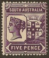 SOUTH AUSTRALIA 1894 5d QV SG 235 U #MN175 - 1855-1912 South Australia