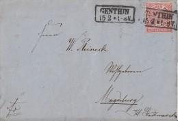 NDP Brief EF Minr.4 Nachv. Stempel R2 Genthin 15.2. - Norddeutscher Postbezirk