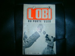 L OBI LE JOURNAL DU PORTE CLES N 1      02//1966 - Key-rings