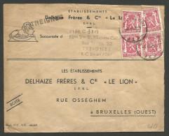 Belgique - Griffe Linéaire Gare TREIGNES - Enveloppe Publicité Delhaize - Del Rio - Silver King - 2 Scan - Marcophilie