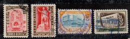 Cuba ; 1953 ; 4 Tp 100ème Marti ; N° Y:    ,  Ob. ; Cote Y : Env. 7.70 E. - Poste Aérienne