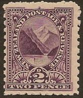 NZ 1898 2d Pembroke Peak SG 276 HM #MR24 - 1855-1907 Crown Colony