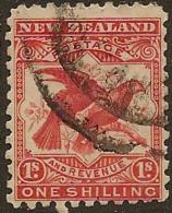 NZ 1898 1/- Kea And Kaka SG 268a U #MR22 - 1855-1907 Crown Colony