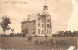 Ohey Chateau Marsigny  Postée Et Taxée D'havelange Défraichie Sur Le Coté Droit - Ohey