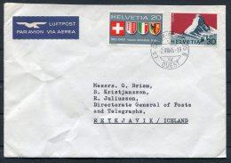 1965 Switzerland Courvoisier Stamp Printers La Chaux De Fonds Cover - Directorate General Of Posts Reykjavik Iceland - Switzerland